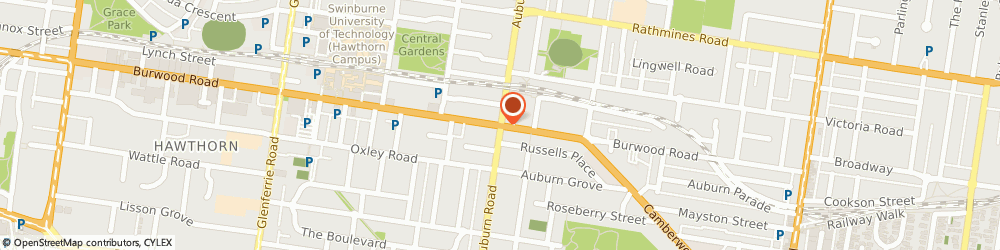 Route/map/directions to Miracle 19 Thai Massage, 3122 Hawthorn, 110 Auburn Road