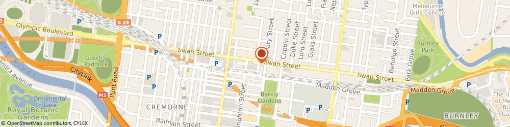 Route/map/directions to BP, 3121 Richmond, 282 Swan Street