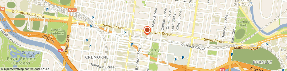 Route/map/directions to Taxtor Trading Pty Ltd, 3121 Richmond, 15 BRIGHTON STREET