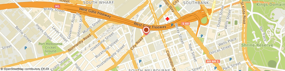 Route/map/directions to Reece South Melbourne, 3205 South Melbourne, Cnr City Road & Cecil Street