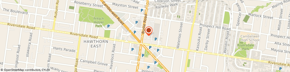 Route/map/directions to St George Bank Camberwell Branch, 3124 Camberwell, 586-590 Burke Road