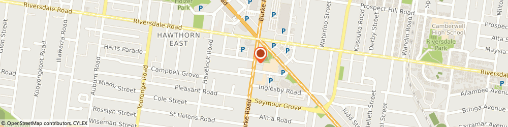 Route/map/directions to Trinitas Thai, 3124 Camberwell, 955 Burke Rd
