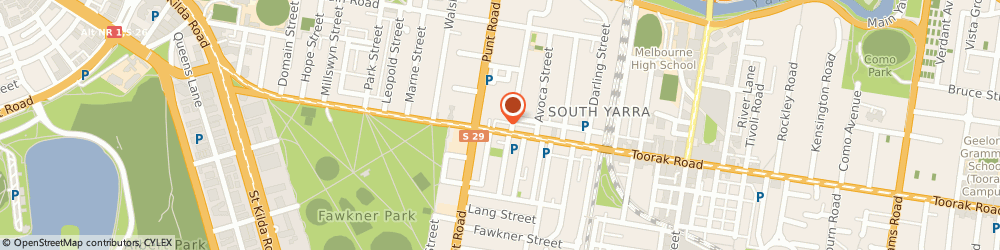 Route/map/directions to Toorak Rd Laundry Services, 3141 South Yarra, 33 TOORAK ROAD