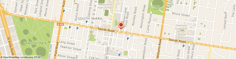 Route/map/directions to ANZ ATM, 3141 South Yarra, 299 Toorak Rd