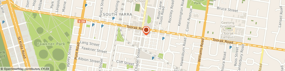 Route/map/directions to Landis Property, 3141 South Yarra, 299 Toorak Rd