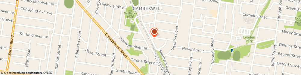 Route/map/directions to Hartwell Station Reserve Playground, 3124 Camberwell, 106 Fordham Ave