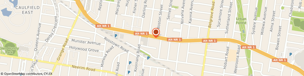 Route/map/directions to Carnegie Motor Inn & Serviced Apartments, 3163 Carnegie, 1102 Dandenong Rd
