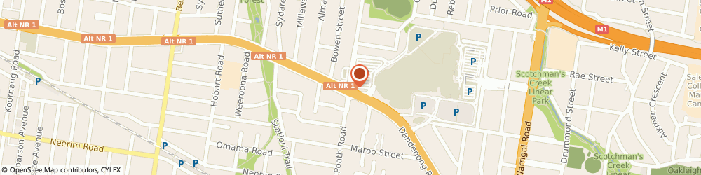 Route/map/directions to East Malvern massage group, 3145 Malvern East, 79 Chadstone Rd