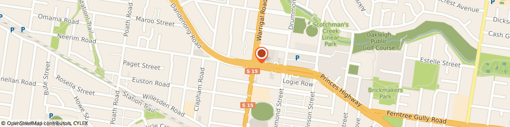 Route/map/directions to Chadstone Executive Motel & Serviced Apartments, 3166 Oakleigh, 1362 Dandenong Road