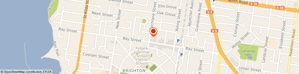 Route/map/directions to Brighton Baptist Shared Accommodation, 3186 Brighton, 5 COCHRANE ST