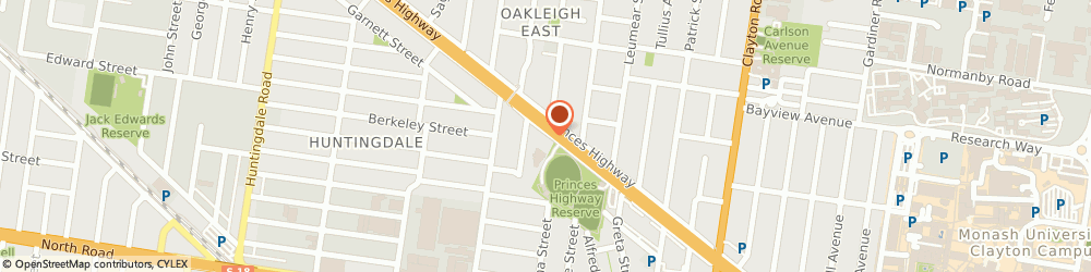 Route/map/directions to Oakleigh Motel, 3166 Oakleigh, 1650 Dandenong Road