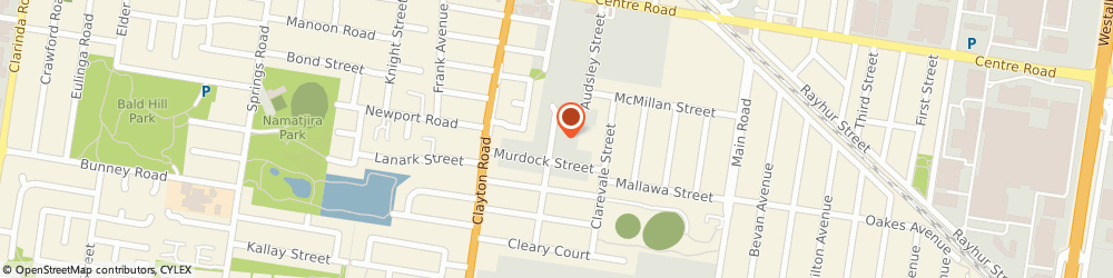 Route/map/directions to Aartek Cabinets Pty Ltd, 3169 Clayton South, 14-16 Meriton Pl