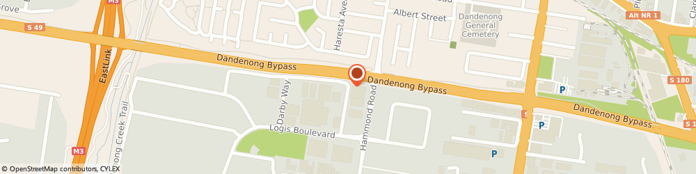 Route/map/directions to Atomik Motorsports, 3175 Dandenong South, 13 Crompton Way