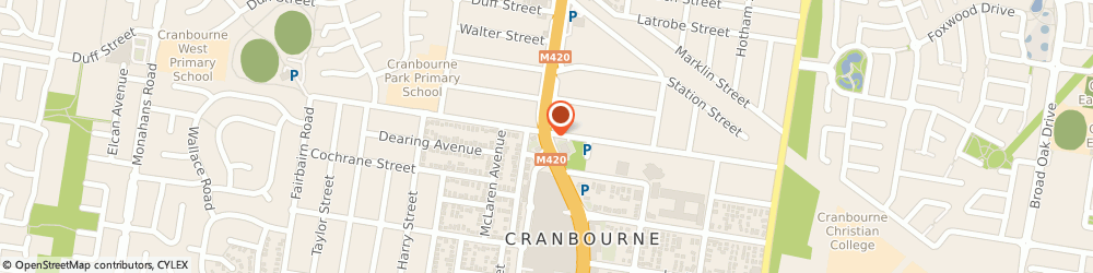 Route/map/directions to Gloria Jean's Coffees CRANBOURNE, 3977 Cranbourne, High Street