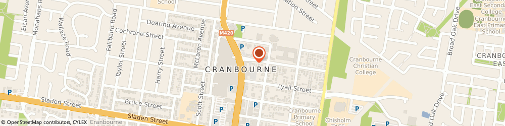 Route/map/directions to Angus & Robertson, 3977 Cranbourne, SHOP 82 CENTRO CRANBOURNE HIGH ST