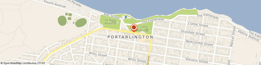 Route/map/directions to Grand Hotel Portarlington, 3223 Portarlington, 76 Newcombe Street