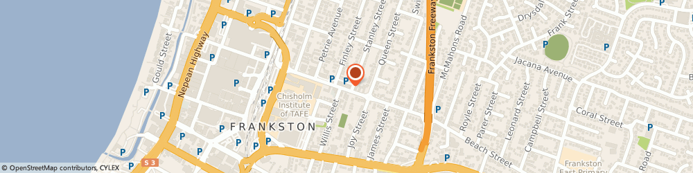 Route/map/directions to Baker Geoffrey J, 3199 Frankston, 65 BEACH ST