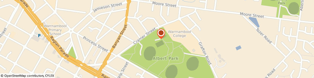 Route/map/directions to City Memorial Bowls Club, 3280 Warrnambool, 50-58 Cramer Street