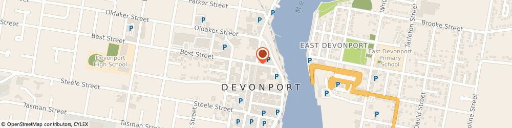 Route/map/directions to Prouds Devonport, 7310 Devonport, Rooke Street