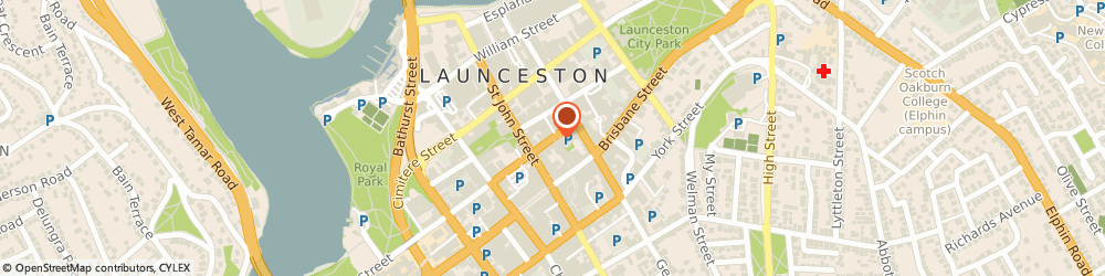 Route/map/directions to T.r.c. Hotel, 7250 Launceston, 121-131 Paterson St