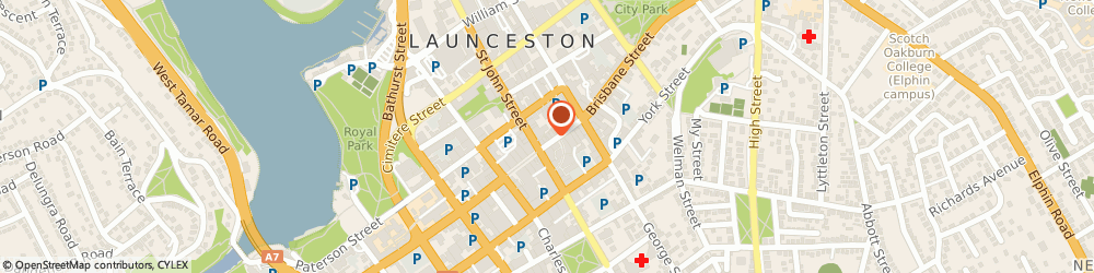 Route/map/directions to Camera House, 7250 Launceston, 96 Brisbane Street