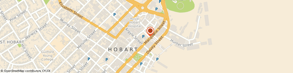 Route/map/directions to Avis Car & Truck Rental Hobart, 7000 Hobart, 2-4 Market Place