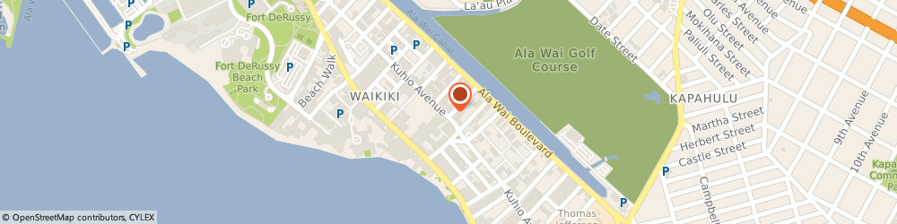 Route/map/directions to TR Fire Grill, 96815 Honolulu, 2330 Kuhio Ave