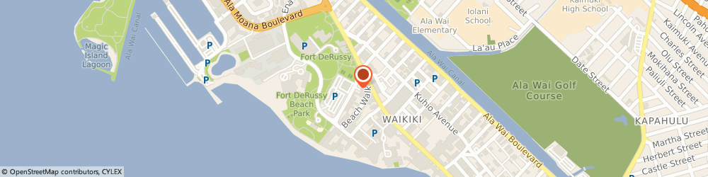 Route/map/directions to Post Office - Waikiki, 96815 Honolulu, 330 SARATOGA ROAD