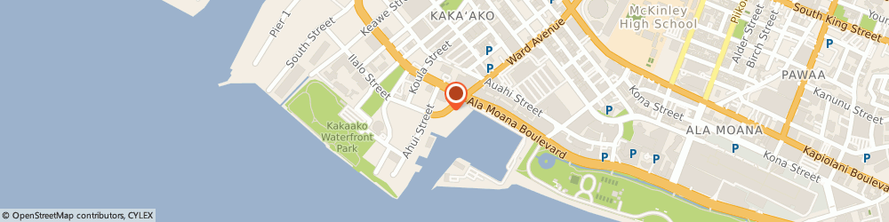 Route/map/directions to Starbucks Coffee - Corporate Office, 96814 Honolulu, 210 WARD AVENUE SUITE 105