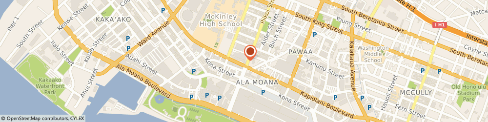 Route/map/directions to Bank of America, 96813 Honolulu, PEARL HIGHLANDS SHOP
