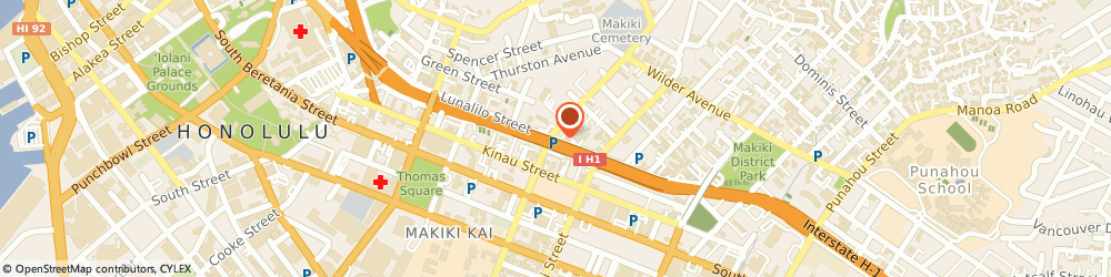 Route/map/directions to Post Office - Makiki, 96822 Honolulu, 1111 LUNALILO STREET