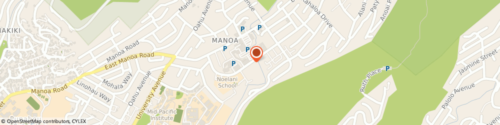 Route/map/directions to Post Office - Manoa Cntrct Station, 96822 Honolulu, 2754 WOODLAWN DRIVE STE 7-101