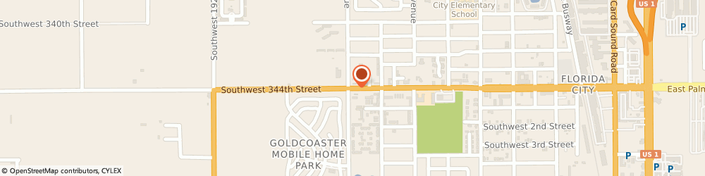 Route/map/directions to Circle K, 33034 Florida City, 970 W PALM DR