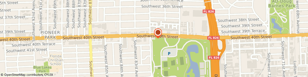 Route/map/directions to Dunkin', 33155 Miami, 8190 SW 40th St