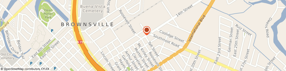Route/map/directions to Cruz Auto Body Shop, 78521 Brownsville, 2811 E 14TH ST