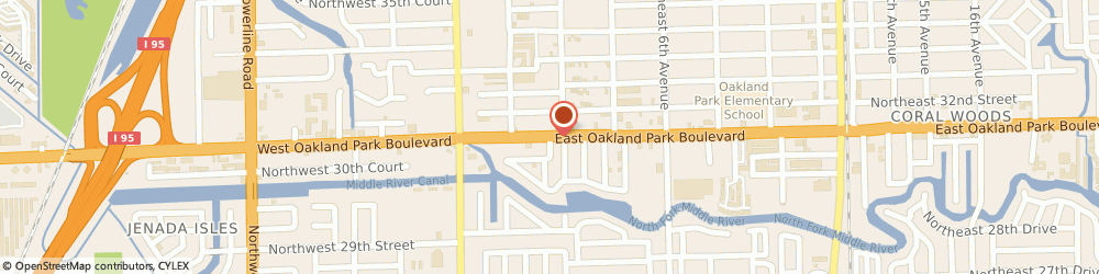 Route/map/directions to South Florida Vision Incorporated, 33334 Oakland Park, 1395 E Oakland Park Blvd