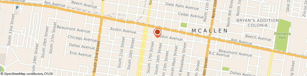 Route/map/directions to Mcallen Sports, 78501 Mcallen, 109 SOUTH 17TH STREET