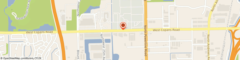 Route/map/directions to Broward County Water Dept, 33069 Pompano Beach, 2555 W COPANS RD