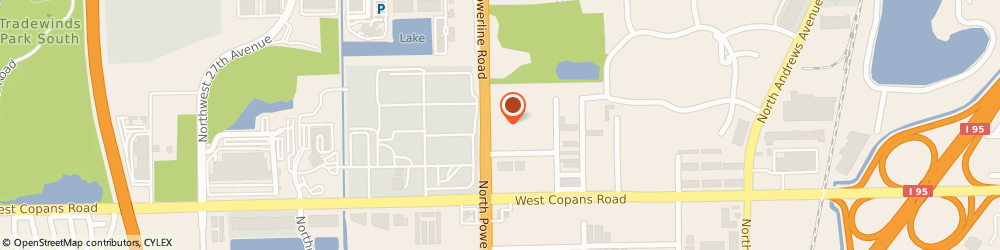 Route/map/directions to Towels by the Pound & Embroidery, 33069 Pompano Beach, 2560 N. Powerline Rd.