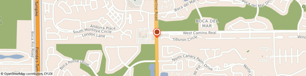 Route/map/directions to Citibank, 33433 Boca Raton, 7400 W. Camino Real, Suite 130