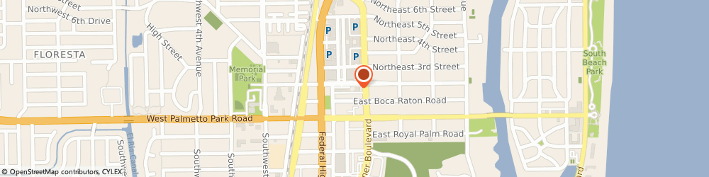 Route/map/directions to Post Office - Downtown Boca Raton, 33432 Boca Raton, 170 NORTHEAST 2ND STREET