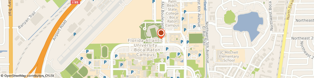 Route/map/directions to Subway, 33431 Boca Raton, 777 Glades Rd., Football Stad.