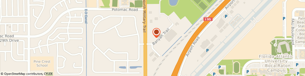 Route/map/directions to Post Office - Boca Raton, 33431 Boca Raton, 2800 NORTH MILITARY TRAIL