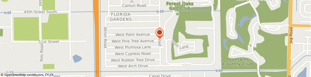 Route/map/directions to All Natural Pools & Spas, 33467 Lake Worth, 8 WEST PINE TREE AVENUE