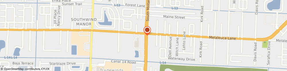 Route/map/directions to Cumberland Farms, 33463 Greenacres, 4771 South Military Trail
