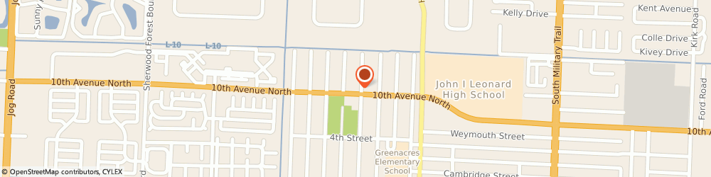 Route/map/directions to Cumberland Farms, 33463 Greenacres, 5245 10th Ave N