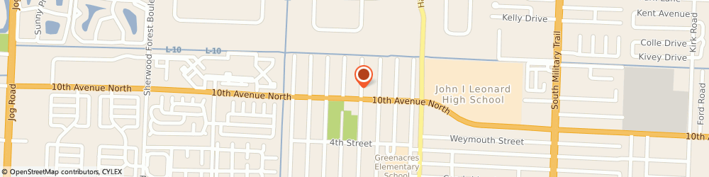 Route/map/directions to Citizens Bank ATM, 33463 Greenacres, Cumberland Farms, 5225 Tenth Avenue North
