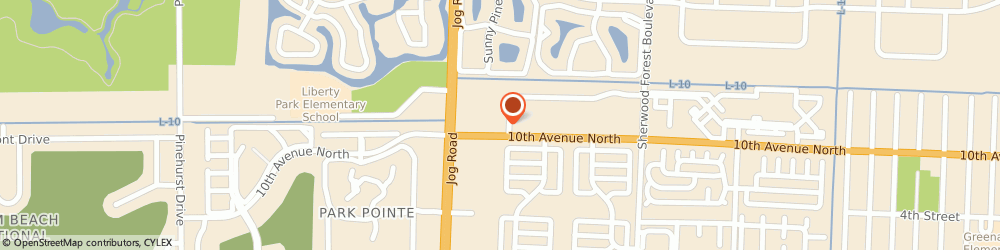 Route/map/directions to Liberty Tax Service Greenacres, 33463 Greenacres, 6383 10Th Ave N