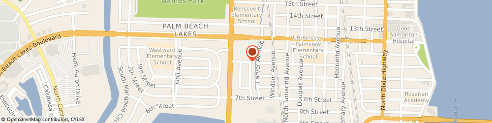 Route/map/directions to Palm Beach Academy Of Health & Beauty, 33401 West Palm Beach, 1220 10TH STREET