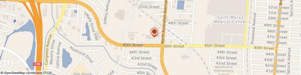 Route/map/directions to Red Nails, 33407 West Palm Beach, 1225 45TH ST # 511, Ste 511